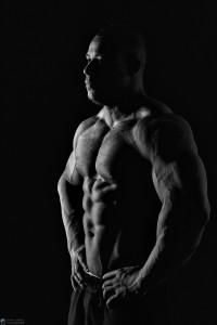 men's physique shoot